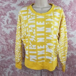 Nike Spell Out Sweatshirt Size S High Low Yellow